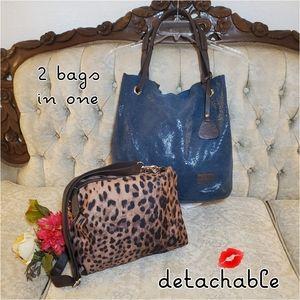 MARNI Suede Leather Hobo Bag